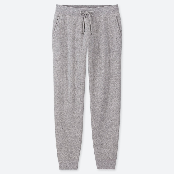 Men Pile-Lined Sweatpants, Gray, Large