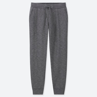MEN PILE-LINED SWEATPANTS, DARK GRAY, medium