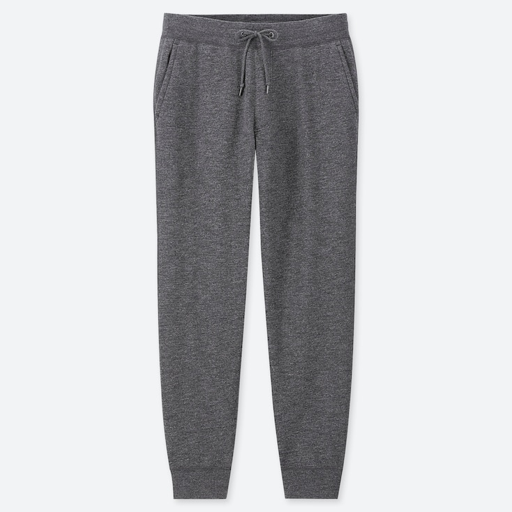 MEN PILE-LINED SWEATPANTS, DARK GRAY, large