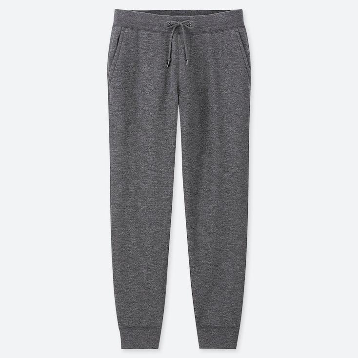 Men Pile-lined Sweatpants, Dark Gray, Large
