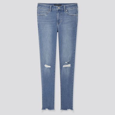 WOMEN ULTRA STRETCH DISTRESSED JEANS (L28)