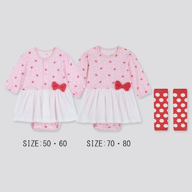 NEWBORN DISNEY LONG-SLEEVE BODYSUIT GIFT SET (SET OF 2), PINK, medium