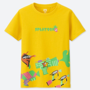 KINDER UT BEDRUCKTES T-SHIRT SPLATOON