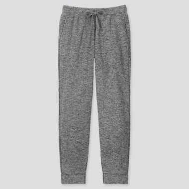 MEN FLUFFY YARN FLEECE EASY PANTS, GRAY, medium