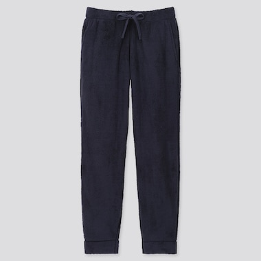 MEN FLUFFY YARN FLEECE EASY PANTS, NAVY, medium