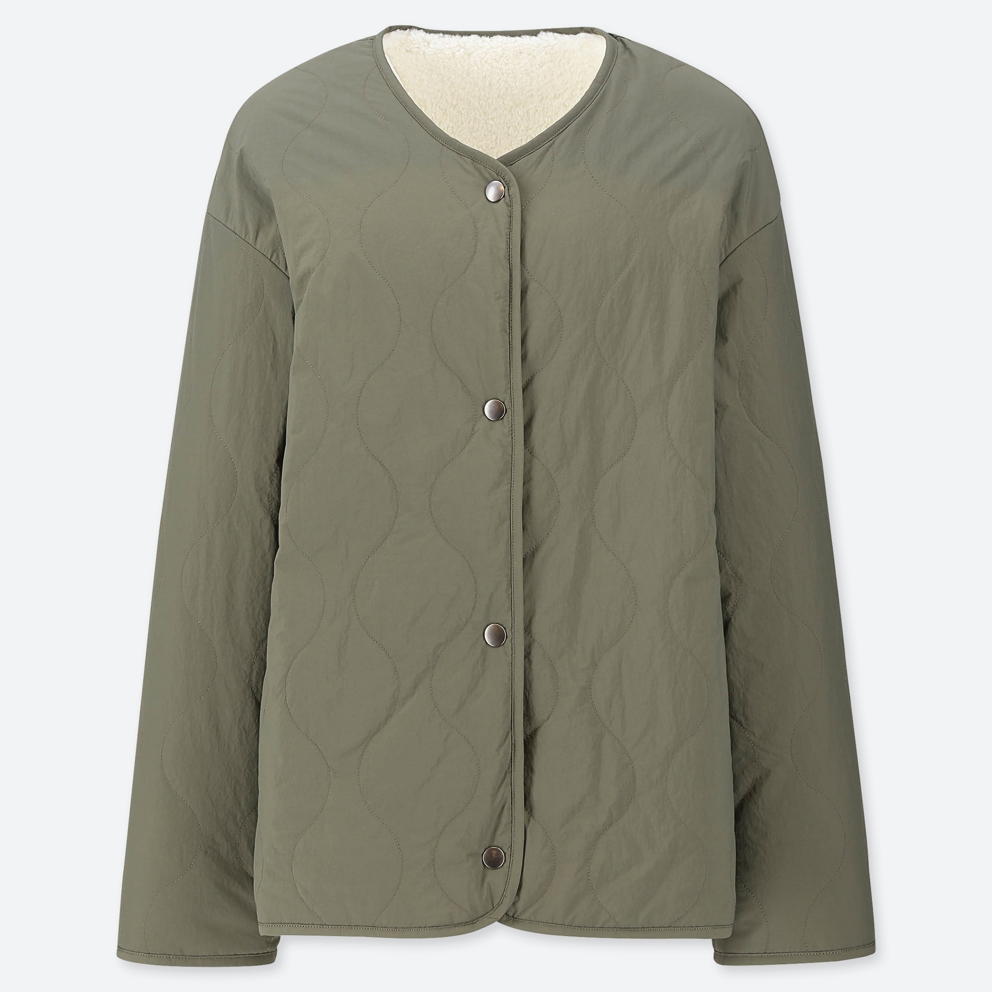 Women Pile Lined Fleece Quilted Reversible Jacket Uniqlo Us