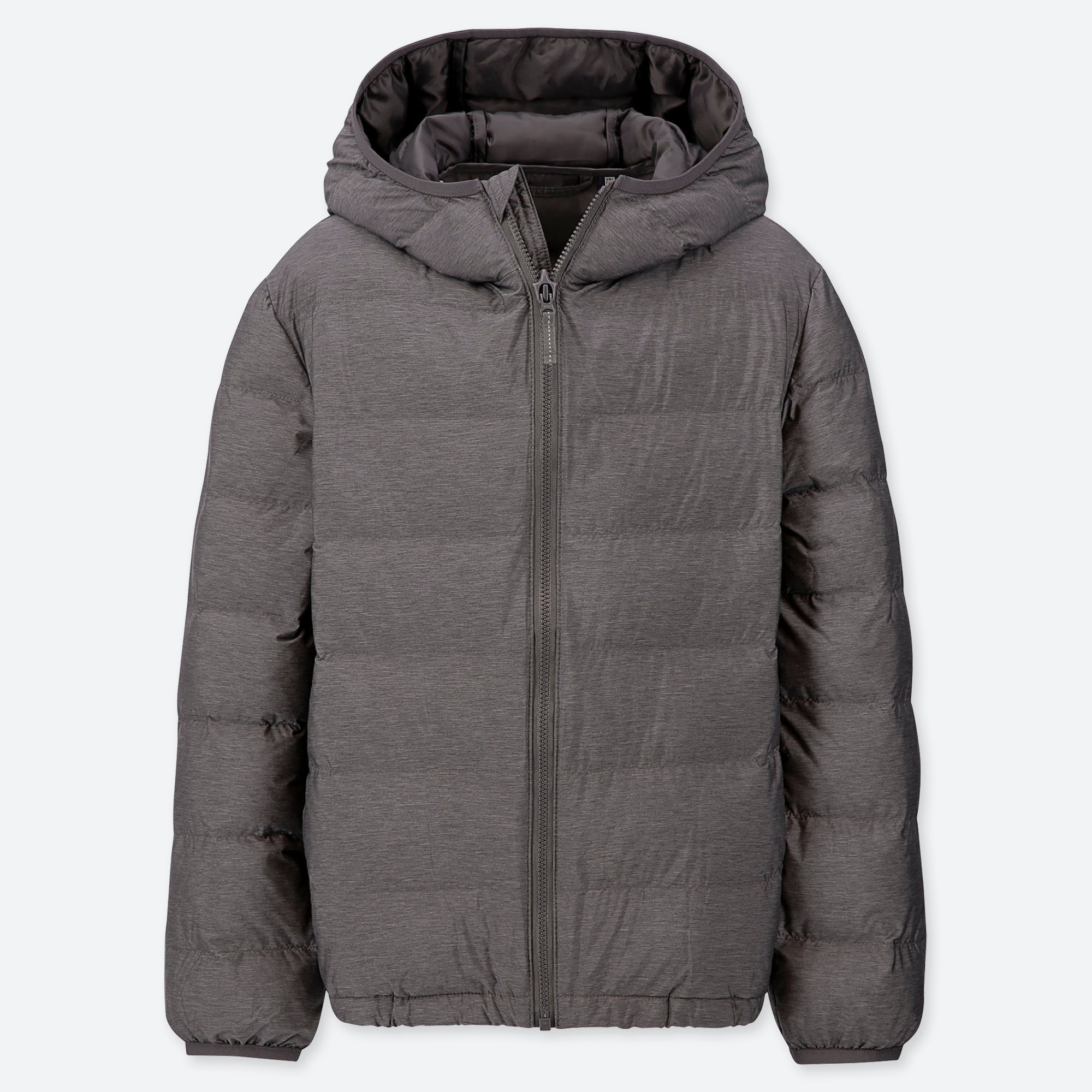 Uniqlo KIDS LIGHT WARM PADDED PARKA : Color - 08 Dark Gray, Size - Age 9-10 (421483)