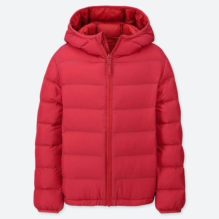 KIDS LIGHT WARM PADDED PARKA, RED, large