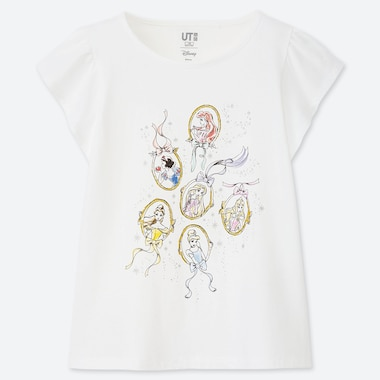 GIRLS DISNEY HEROINES UT (SHORT-SLEEVE GRAPHIC T-SHIRT), WHITE, medium