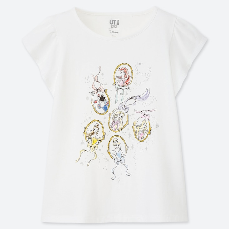 GIRLS DISNEY HEROINES UT (SHORT-SLEEVE GRAPHIC T-SHIRT), WHITE, large