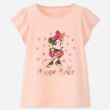 GIRLS DISNEY HEROINES UT (SHORT-SLEEVE GRAPHIC T-SHIRT), PINK, medium