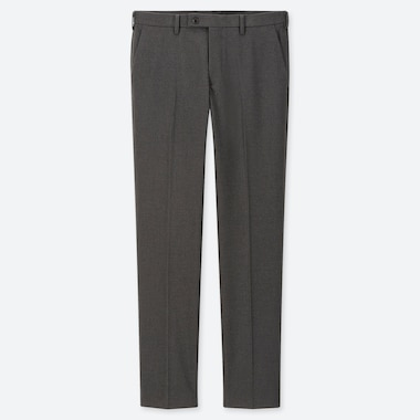 Men Heattech Stretch Slim-Fit Pants, Dark Gray, Medium