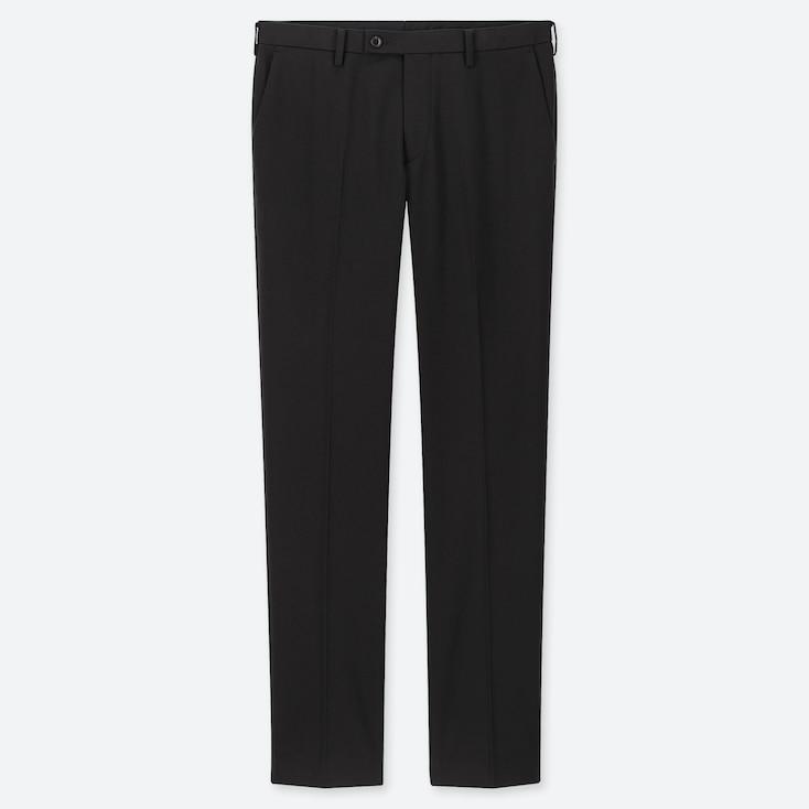 MEN HEATTECH STRETCH SLIM-FIT PANTS, BLACK, large