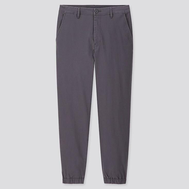 MEN EZY JOGGER PANTS, DARK GRAY, large