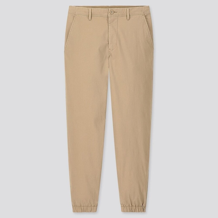 "MEN EZY JOGGER PANTS (TALL 31"") (ONLINE EXCLUSIVE), BEIGE, large"