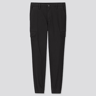MEN EZY JOGGER CARGO TROUSERS (ONLINE EXCLUSIVE), BLACK, medium