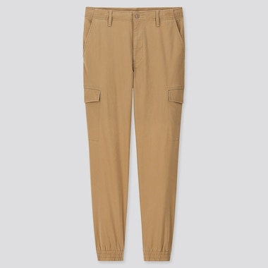 MEN EZY JOGGER CARGO TROUSERS (ONLINE EXCLUSIVE), KHAKI, medium