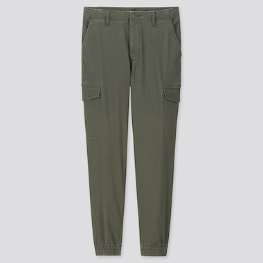 MEN EZY JOGGER CARGO TROUSERS (ONLINE EXCLUSIVE), DARK GREEN, medium
