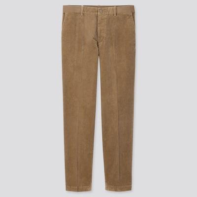 Men Ezy Corduroy Ankle Length Trousers  (3) by Uniqlo