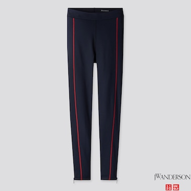 WOMEN AIRism LEGGINGS (JW Anderson), NAVY, medium