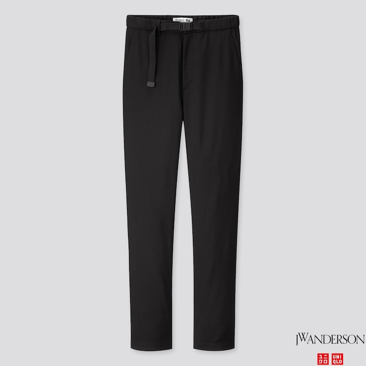 WOMEN STRAIGHT PANTS (JW ANDERSON), BLACK, large