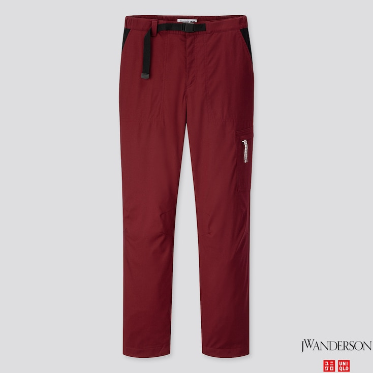 WOMEN WARM-LINED PANTS (JW Anderson), WINE, large