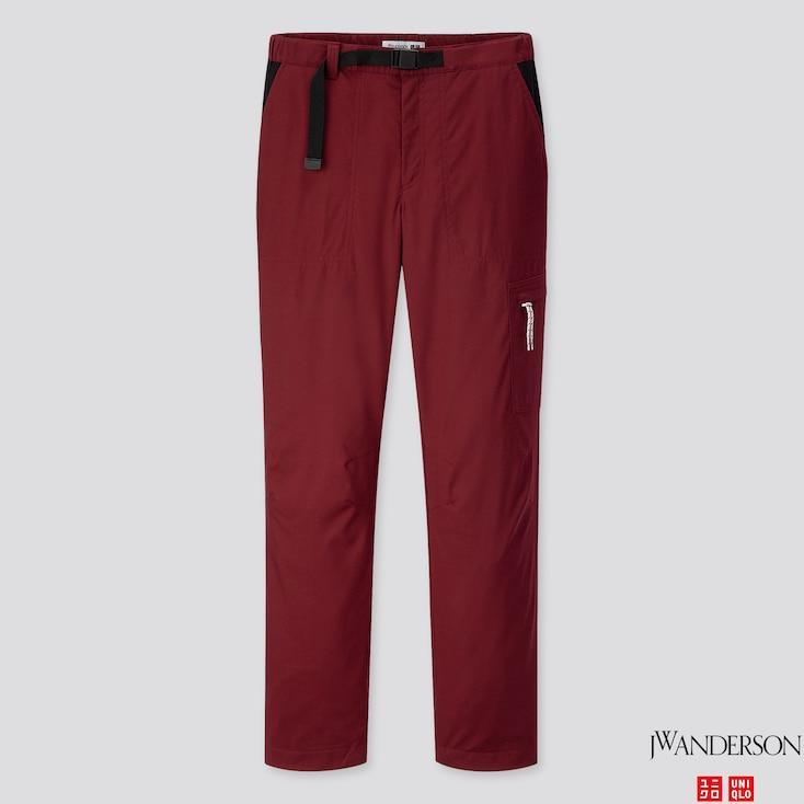 Women Warm-lined Pants (jw Anderson), Wine, Large