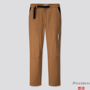 WOMEN WARM-LINED PANTS (JW Anderson), BROWN, medium