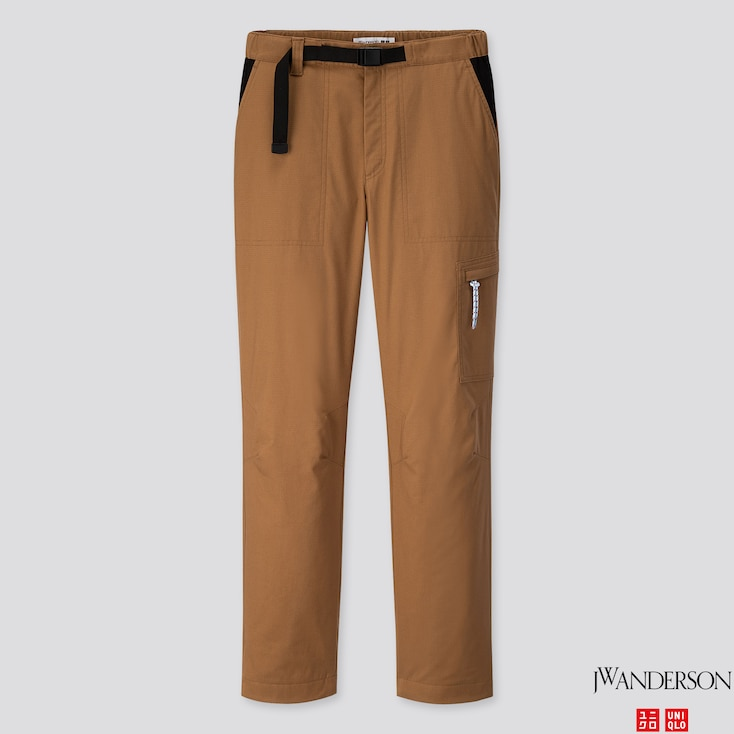 WOMEN WARM-LINED PANTS (JW Anderson), BROWN, large