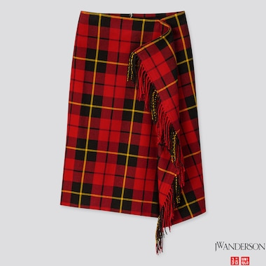 WOMEN FRINGE SKIRT (JW ANDERSON), RED, medium