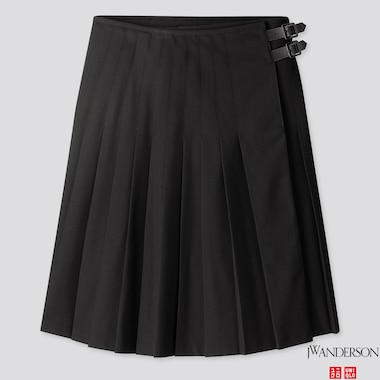 WOMEN PLEATED SKIRT (JW ANDERSON), BLACK, medium