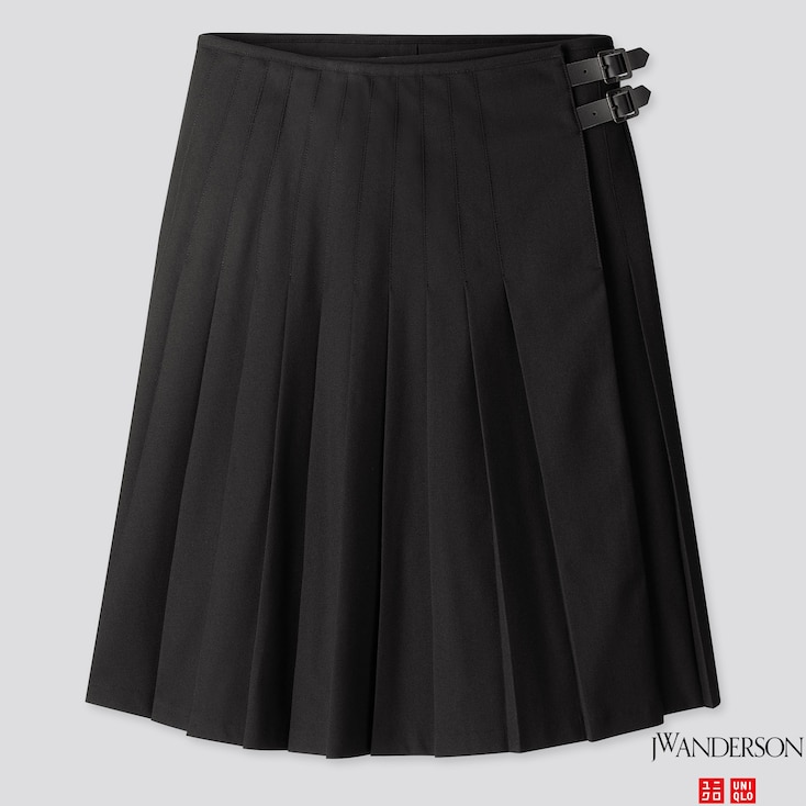 Women Pleated Skirt (jw Anderson), Black, Large