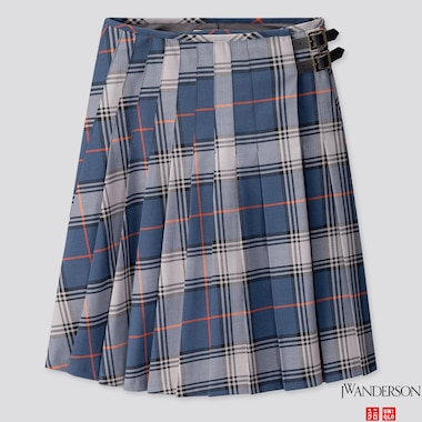 WOMEN PLEATED SKIRT (JW ANDERSON), BLUE, medium