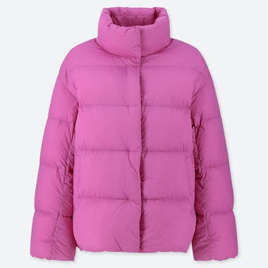 WOMEN ULTRA LIGHT DOWN COCOON JACKET, PINK, medium