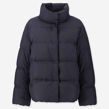 Women Ultra Light Down Cocoon Jacket, Navy, Medium