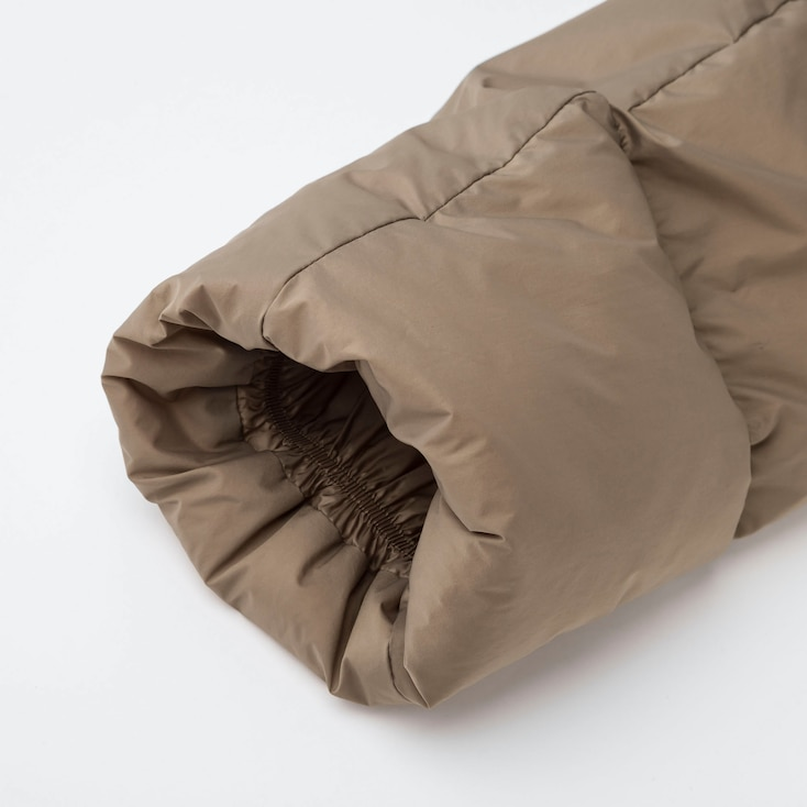 Women Ultra Light Down Cocoon Jacket, Light Gray, Large