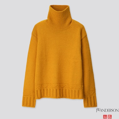 WOMEN LOW GAUGE TURTLENECK SWEATER (JW ANDERSON), YELLOW, medium