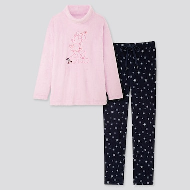 WOMEN DISNEY HOLIDAY LONG-SLEEVE FLEECE SET, LIGHT PURPLE, medium