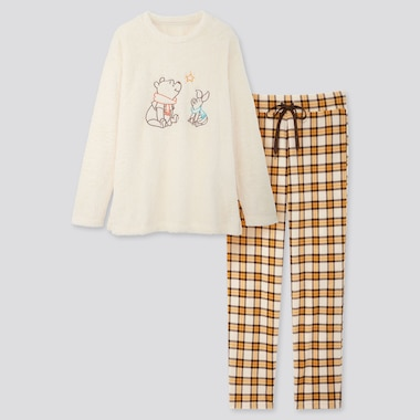 WOMEN DISNEY HOLIDAY FLEECE LONG-SLEEVE SET, OFF WHITE, medium