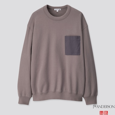 MEN  LONG-SLEEVE SWEATSHIRT (JW ANDERSON), GRAY, medium