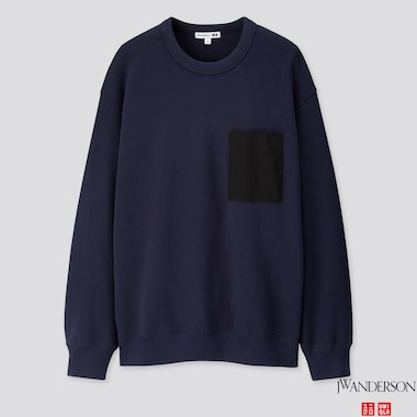 MEN  LONG-SLEEVE SWEATSHIRT (JW ANDERSON), NAVY, medium