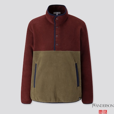 MEN FLEECE PULLOVER (JW ANDERSON), WINE, medium