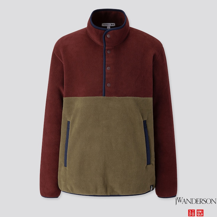 Men Fleece Pullover (jw Anderson), Wine, Large