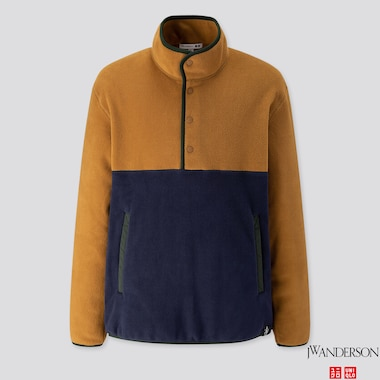 MEN FLEECE PULLOVER (JW ANDERSON), BROWN, medium