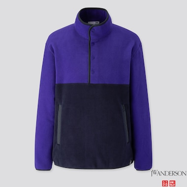 MEN FLEECE PULLOVER (JW ANDERSON), BLUE, medium
