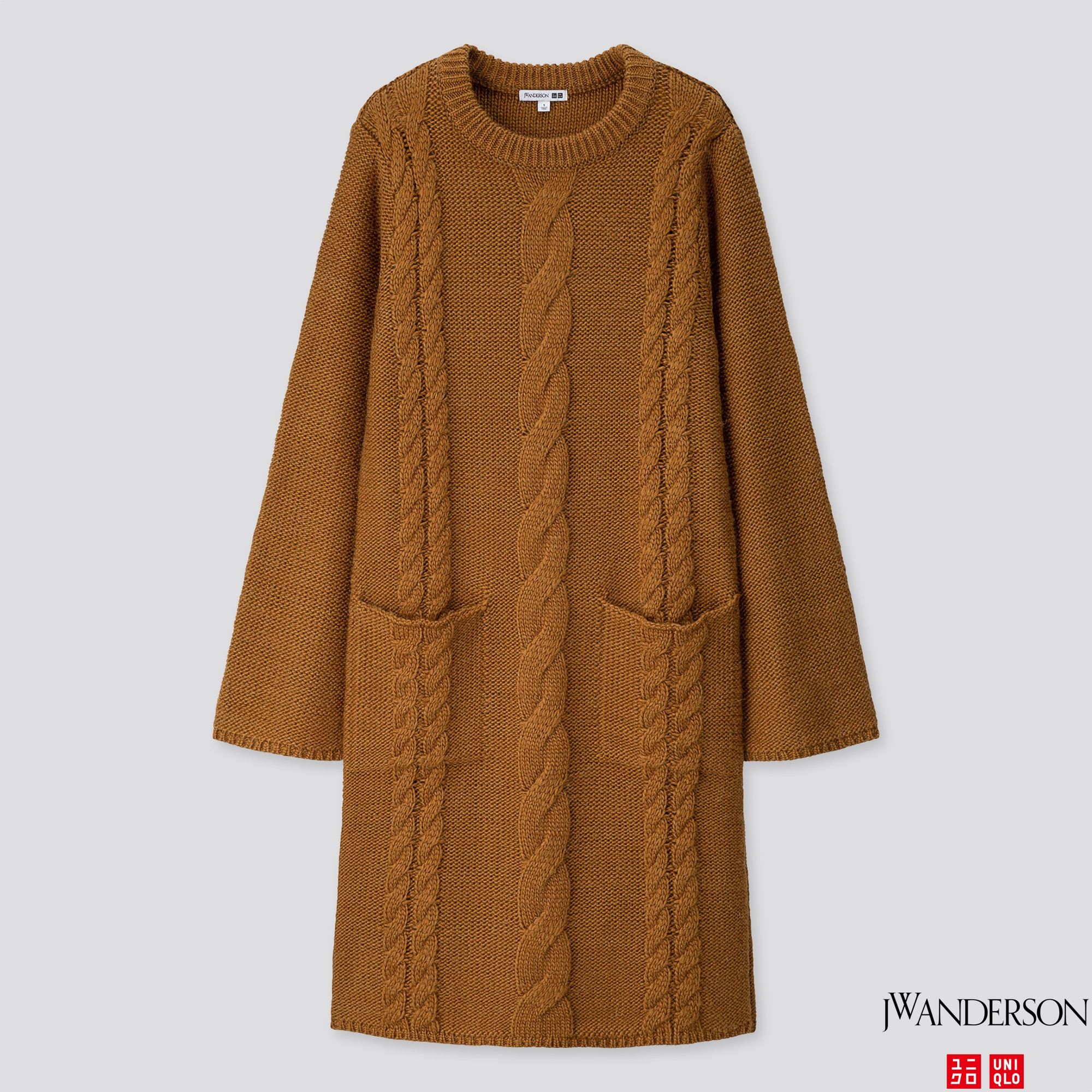 WOMEN CABLE LONG-SLEEVE DRESS (JW ANDERSON)