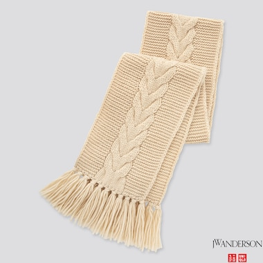 CABLE SCARF (JW ANDERSON), NATURAL, medium
