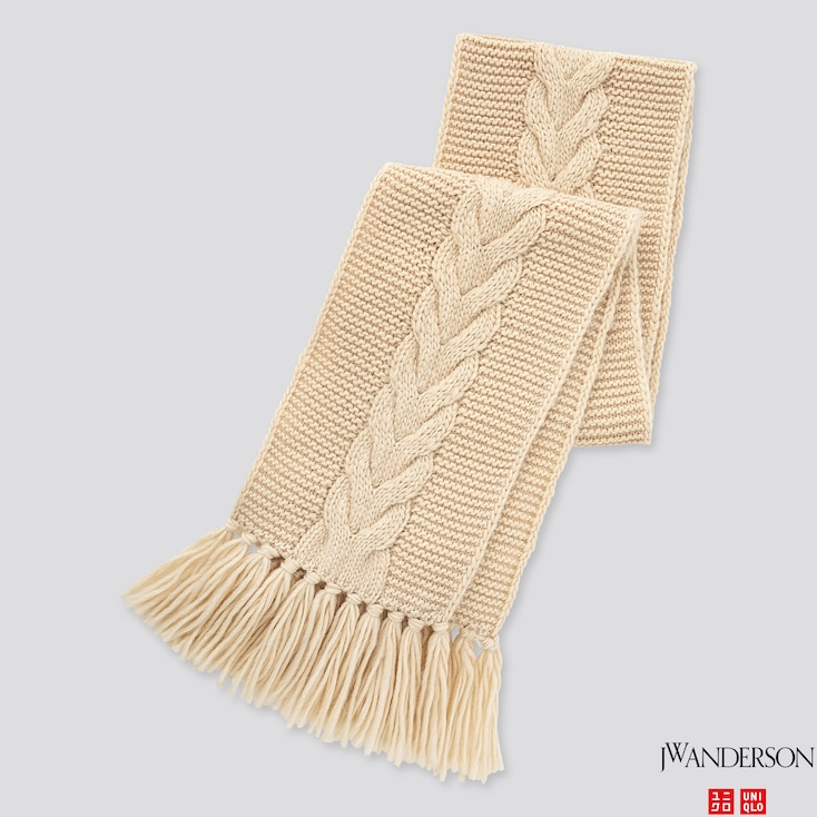 Cable Scarf (jw Anderson), Natural, Large