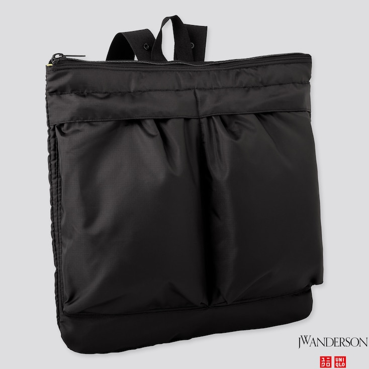REVERSIBLE 2-WAY BAG (JW ANDERSON), BLACK, large