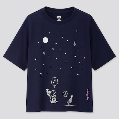 WOMEN PEANUTS UT (SHORT-SLEEVE GRAPHIC T-SHIRT), NAVY, medium